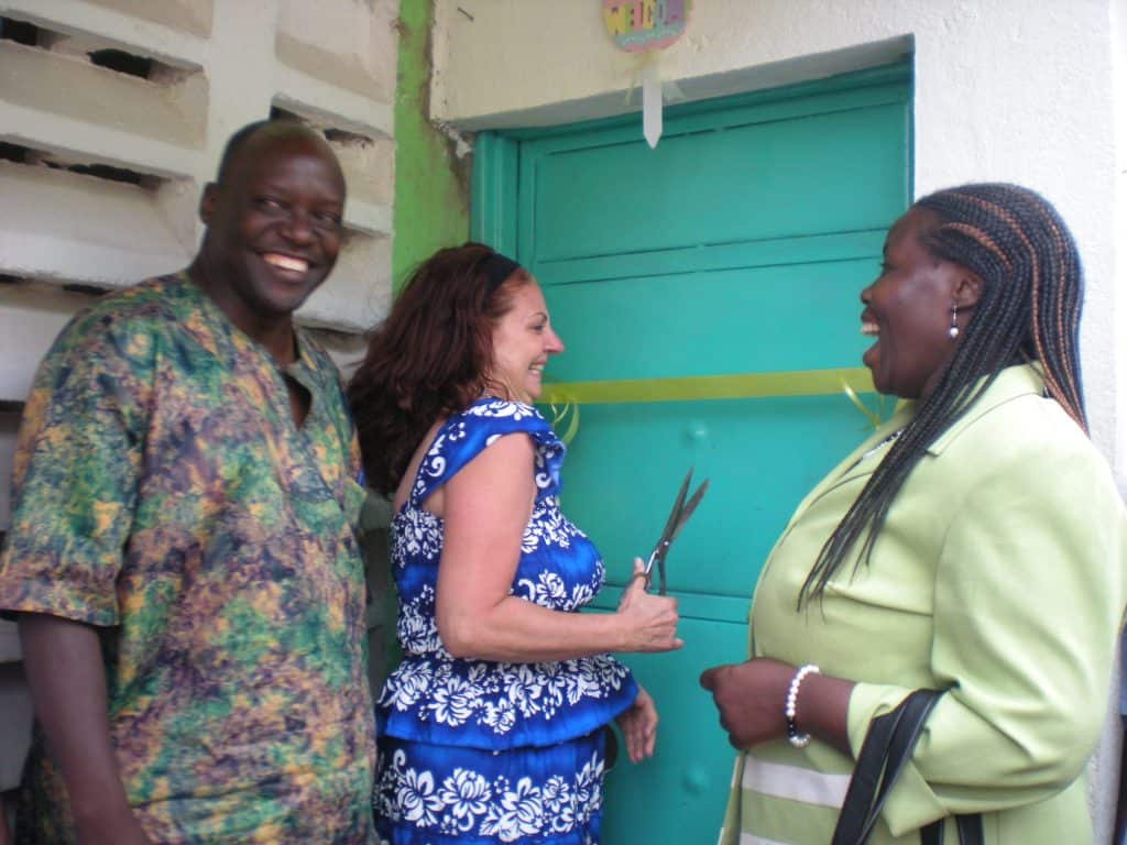 beatrice tierney opening clinic with joyce wanda